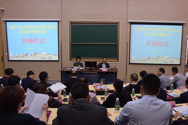 重庆市沙坪坝区民营企业家综合能力提升班开班