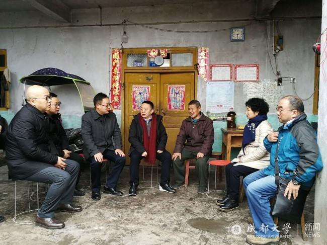 """毛洪涛率队前往简阳市开展""""送温暖、解困难""""工作"""
