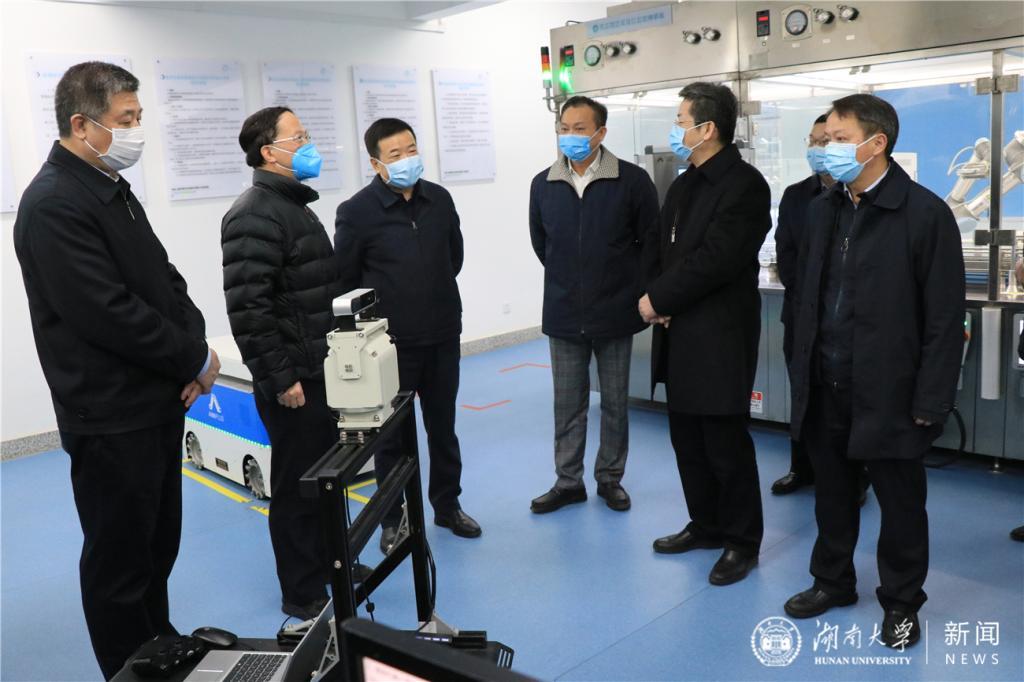 陈飞调研我校:大力推动科技成果落地转化