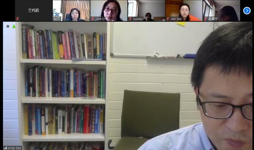"""上财外国语学院积极开展在线科研,举行""""抗疫与语言学研究头脑风暴研讨会"""""""