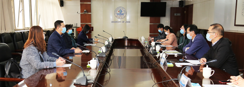 济南市人民政府外事办公室领导来我校调研新冠肺炎疫情防控工作