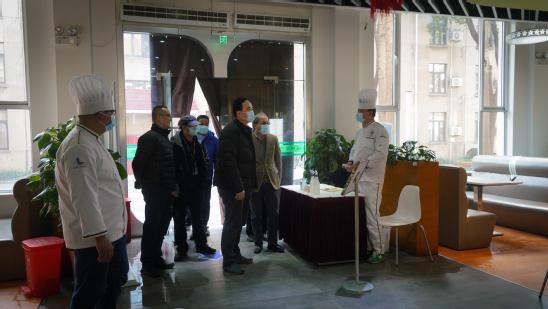 上海市教委巡视员蒋红一行来校督导检查疫情防控和留校师生关心关爱工作