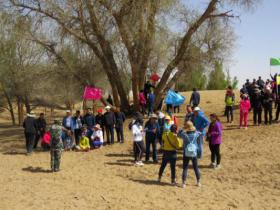 全县意识形态专题培训班学员胡杨树下即兴作诗红