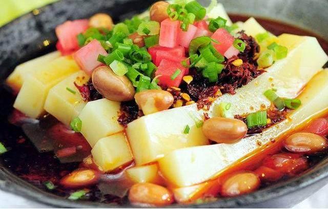 红油米豆腐