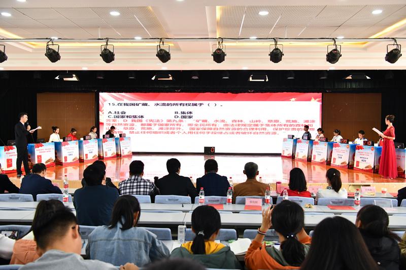 """第四届全国学生""""学宪法 讲宪法""""活动陕西赛区复赛在我校举办"""