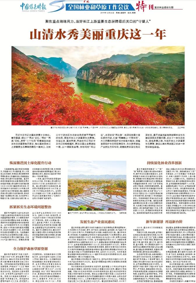 当好长江上游重要生态屏障最后关口的守望人 山清水秀美丽重庆这一年
