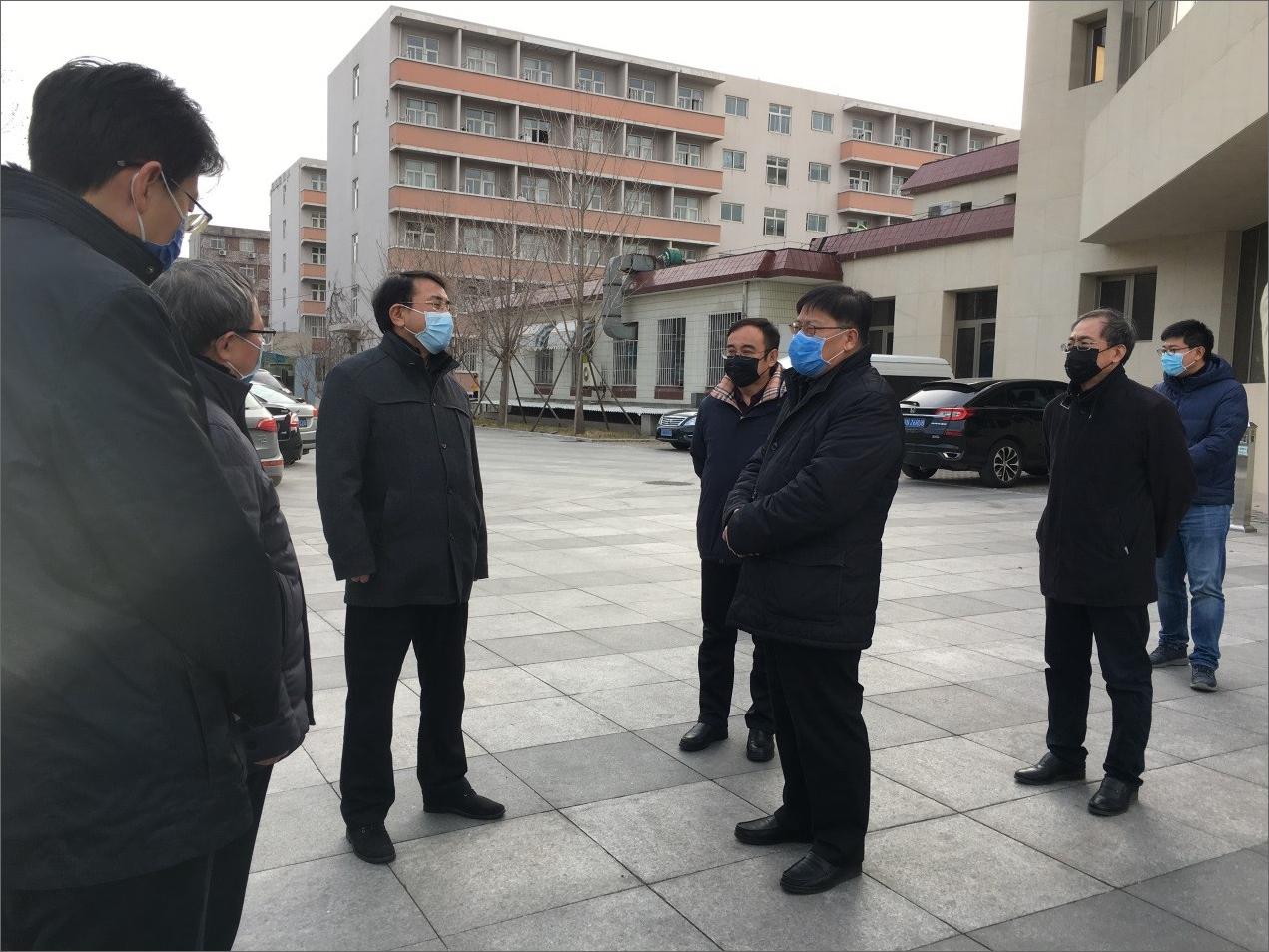 海淀区委书记于军一行来北京国产精品情侣愉拍调研疫情防控工作