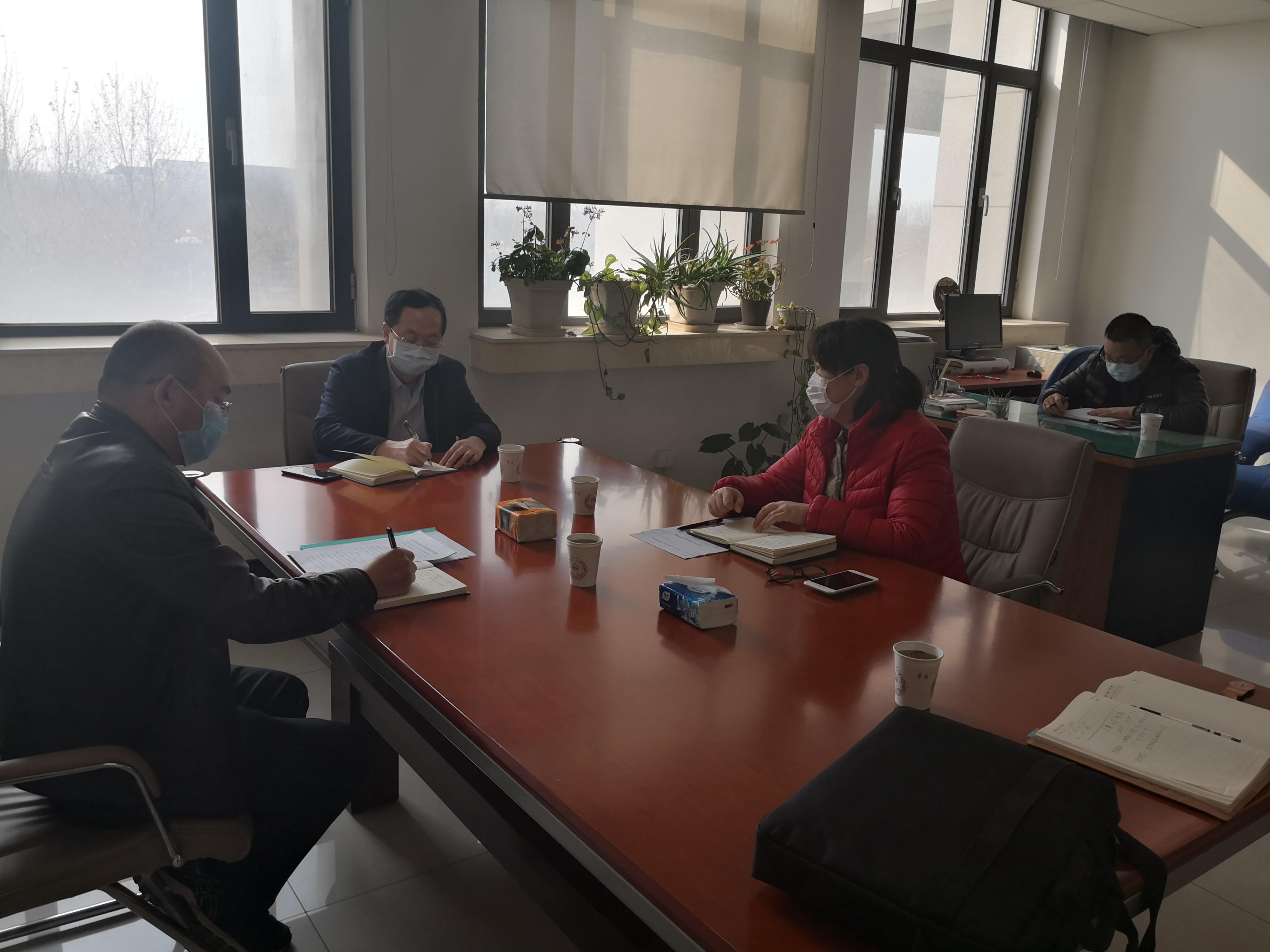 杨勇平调研校内二级单位疫情防控和年度重点工作