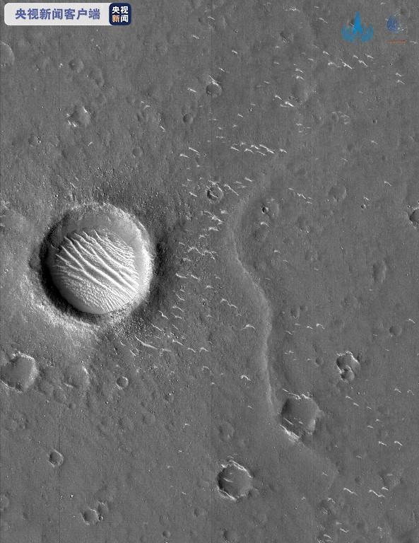 火星近景高清图来了!天问一号拍摄的3幅高清图发布