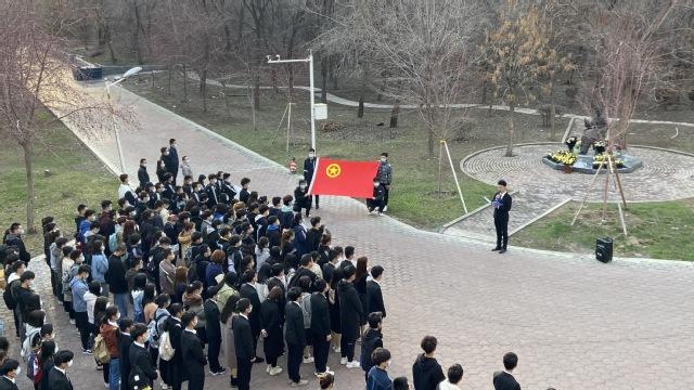 """我校组织开展""""我爱我的祖国·缅怀英烈、铭记历史""""主题活动"""
