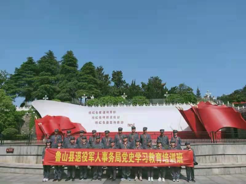 鲁山县退役军人事务局党史学习教育培训班